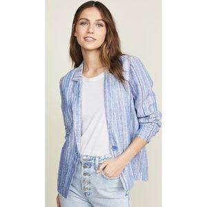 Parker Blue Striped Linen Jacket (NWT)